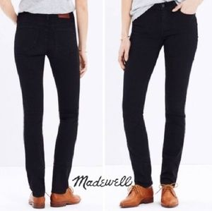 New Madewell Black Alley Straight Jeans Size 24